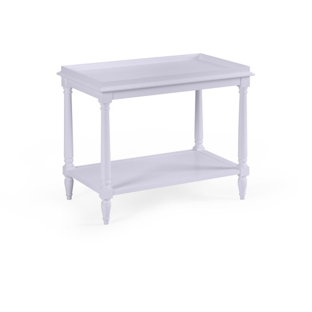 Transitional Casa Cosima Revere Side Table, North Cascades For Sale - Image 3 of 3