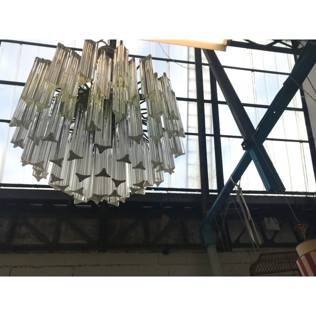 1960s Italian Murano Glass Prism Chandelier For Sale In New Orleans - Image 6 of 7