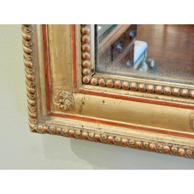 19th C Louis XVI Gilt Mirror For Sale - Image 4 of 5