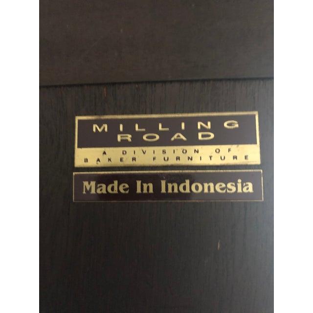 Brass Milling Road/Baker Lighted Display Cabinet For Sale - Image 7 of 8