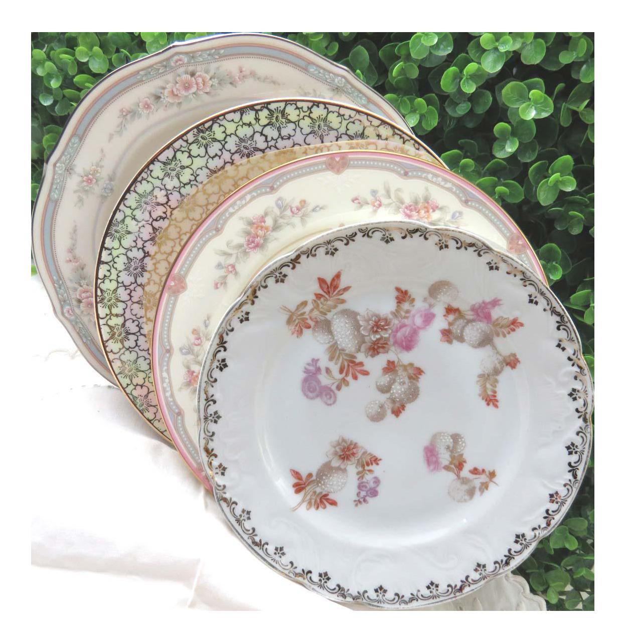 Vintage Mismatched Fine China Salad Plates - Set of 4  sc 1 st  Chairish & Vintage Mismatched Fine China Salad Plates - Set of 4 | Chairish