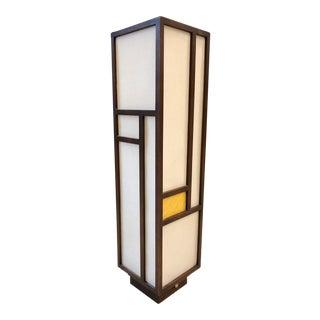 Mid Century Modern Walnut Lamp For Sale