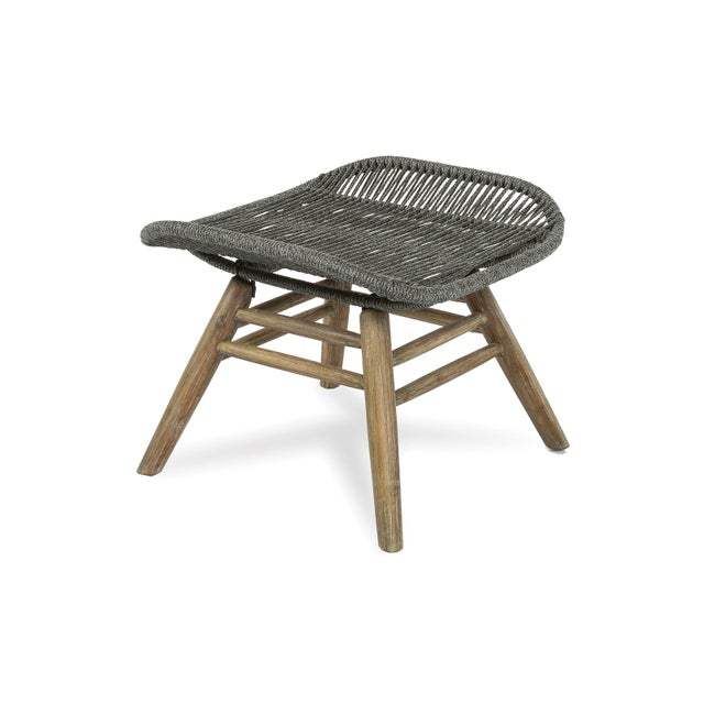 Not Yet Made - Made To Order Neptune Outdoor Patio Lounge Chair and Ottoman Set, Slate Gray For Sale - Image 5 of 6