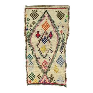Vintage Moroccan Azilal Rug - 4′6″ × 7′8″ For Sale
