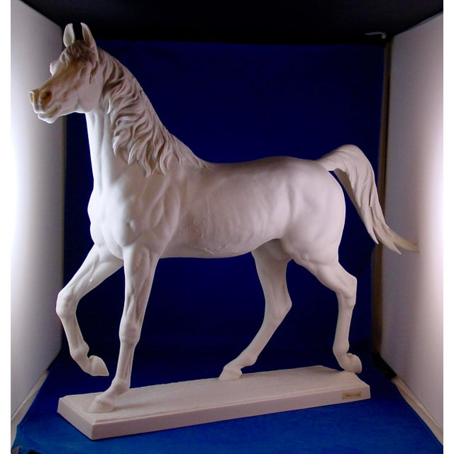 1960s Vintage Arabian Horse Sculpture For Sale - Image 9 of 13
