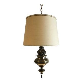 Mid-Century Stiffel Brass Swag Lamp For Sale
