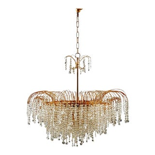 Swedish Vintage Chandelier in Cut Crystal Glass, 1976 For Sale