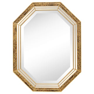 Mirror with Bevel and Reverse Painted Panel Frame