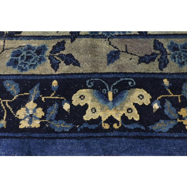 Antique Chinese Peking Art Deco Rug With Chinoiserie Style - 09'01 X 13'07 For Sale - Image 4 of 10