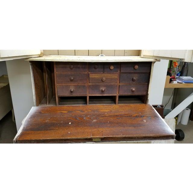 Antique White Hutch Desk - Image 4 of 9