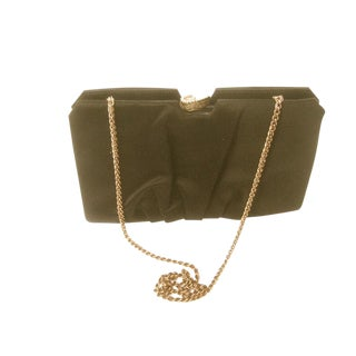 Rodo Opulent Black Satin Evening Bag Clutch For Sale