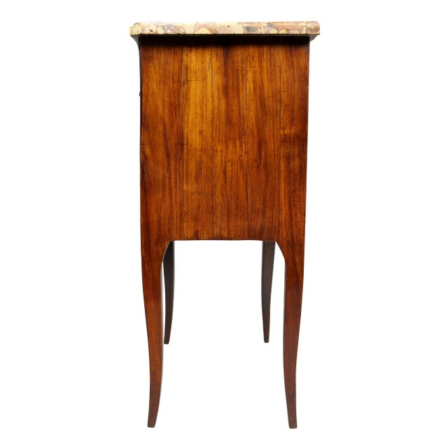 Brown Louis XVI Mahogany Petit Commode For Sale - Image 8 of 10
