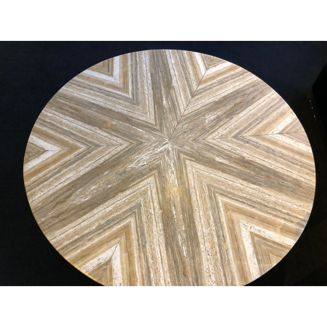 Contemporary 1980s Contemporary Italian Travertine Stone Table For Sale - Image 3 of 11