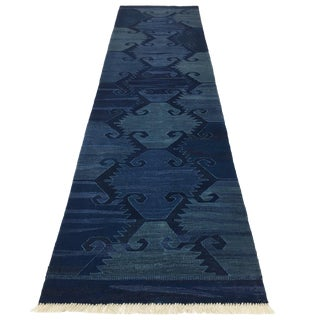 Rug & Relic Indigo-Dyed Organic Modern Runner | 2'6 X 9'11 For Sale