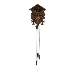 German Hand Carved and Paint Cuckoo Clock For Sale