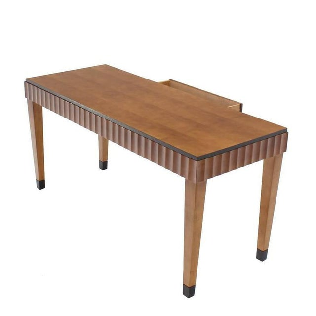 Brown Modern Scallop Edge Desk or Writing Table For Sale - Image 8 of 8