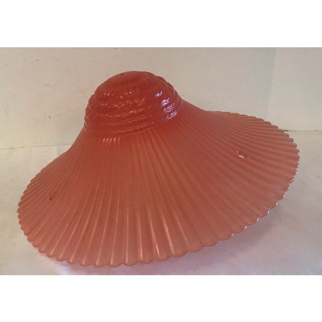 Art Deco Pink Light Fixture Cover For Sale In Dallas - Image 6 of 6