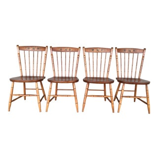L. Hitchcock Maple Harvest Windsor Side Chairs - Set of 4 For Sale
