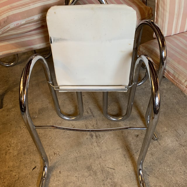 Post Modern Chrome Tubular Dining Chairs For Sale In Richmond - Image 6 of 12