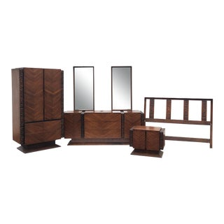 Mid-Century Modern Witco Style Bedroom Set by United Furniture For Sale