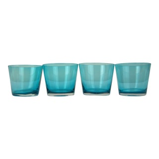Turquoise Lowballs - Set of 4 For Sale