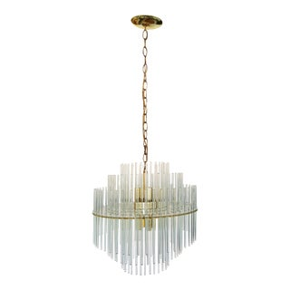 Vintage Gaetano Sciolari for Lightolier Round Chandelier