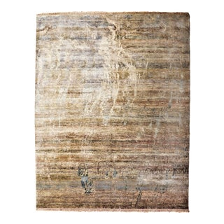 Hand-Knotted Modern Abstract Design Rug - 8′ × 9′11″ For Sale