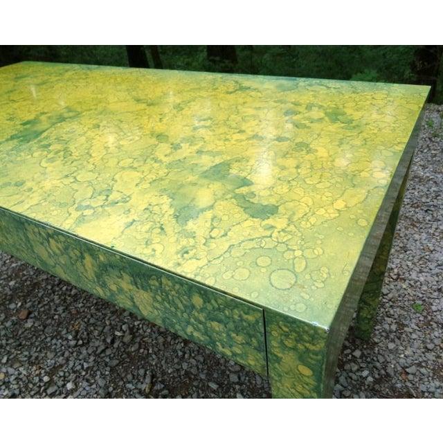 C.1967 Designer Raindrop Finish Vanity Desk Console Table - Image 7 of 13