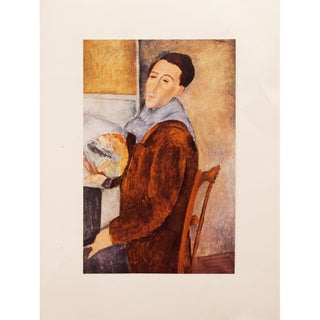 1958 Amedeo Modigliani, First English Edition Lithograph After Self-Portrait For Sale