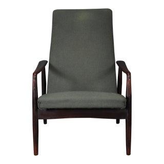 1950s Vintage Søren Ladefoged for Sl Mobler Danish Modern Rosewood Lounge Chair For Sale