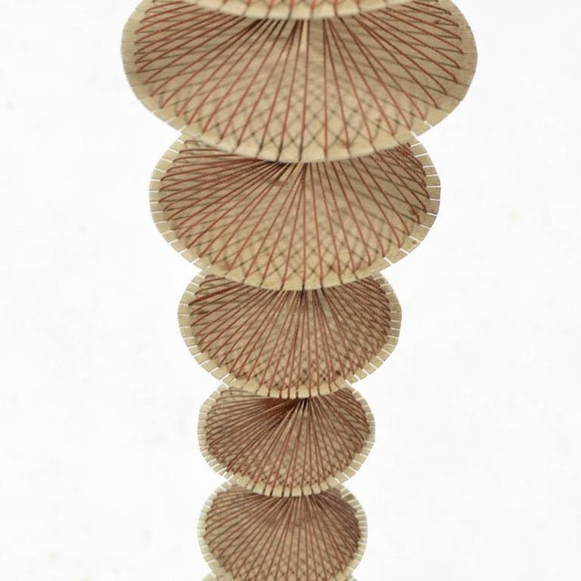 Brass Abstract Geometric Sculpture in Steel and String For Sale - Image 7 of 9