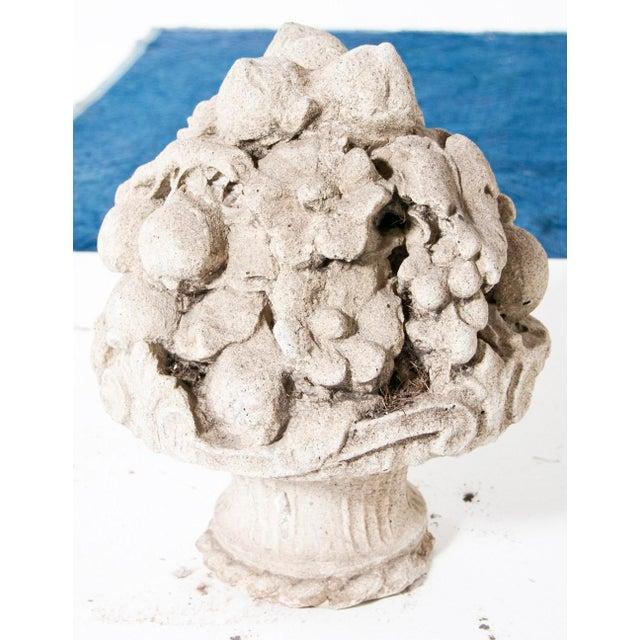 French Late 19th Century Cast Stone Cornucopia For Sale - Image 3 of 5