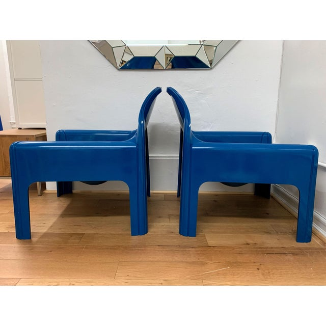 Plastic 1970s Vintage Gae Aulenti for Kartell Italian Lounge Chairs- A Pair For Sale - Image 7 of 13