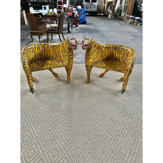 1970s Vintage Tiger Tub Chairs- a Pair For Sale - Image 12 of 13