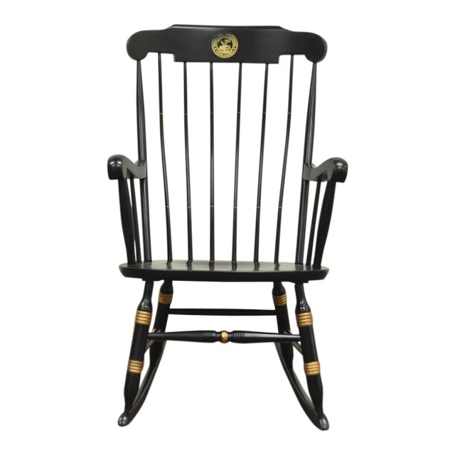 Vintage Sigill College University Nichols & Stone Windsor Rocking Chair For Sale