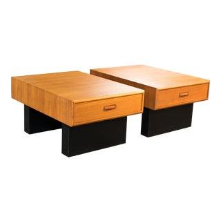 Mid Century Danish Teak Side Tables - a Pair For Sale