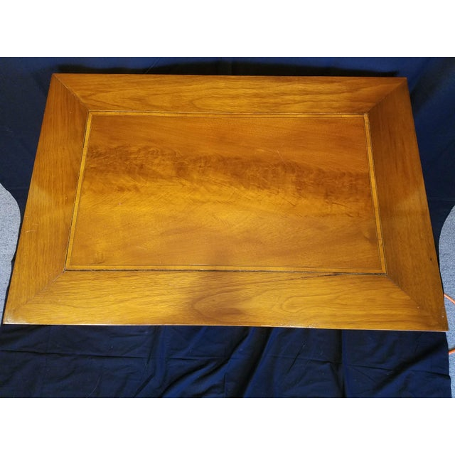 Italian Neo Classic Parquetry Inlaid Writing Table. For Sale - Image 4 of 9