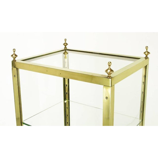 1930s Brass and Glass Open Three-Shelf Vitrine For Sale In Chicago - Image 6 of 7