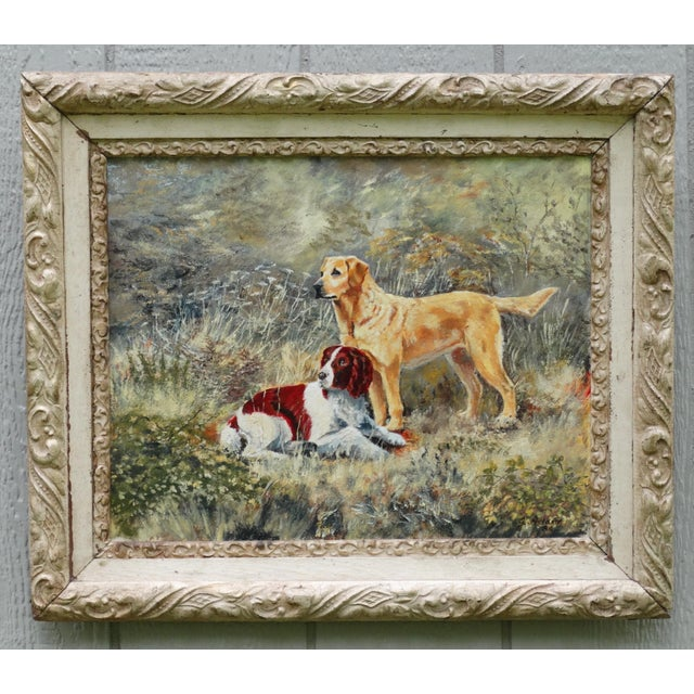 The Dogs' English School Oil Painting, Signed & Dated For Sale In Houston - Image 6 of 6