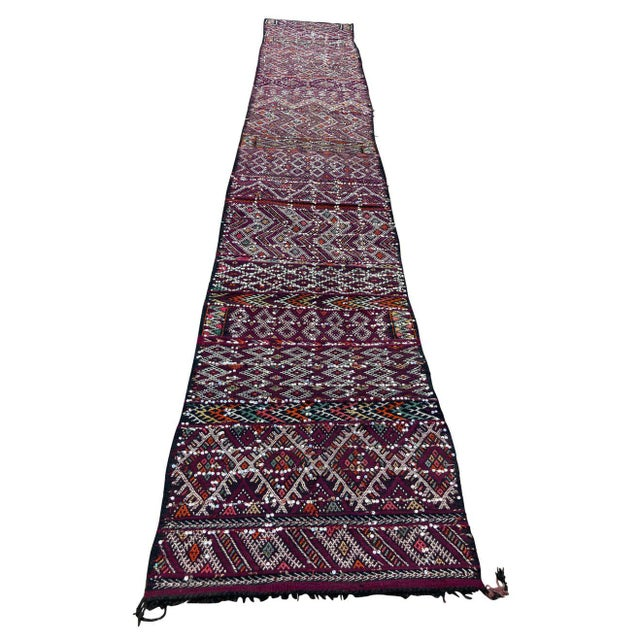 1950s Moroccan African Zemmour Ethnic Textile Rug For Sale - Image 13 of 13