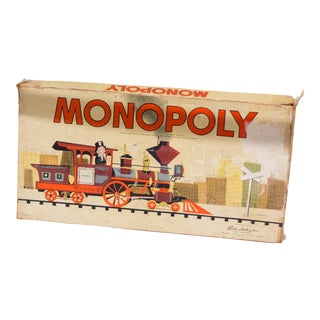 Vintage Copyright 1957 Parker Brothers Trade Mark Monopoly