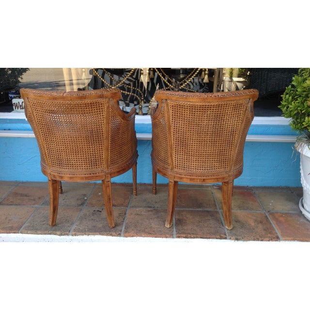 1960s Pair of Louis XVI Style Armchairs For Sale - Image 5 of 13