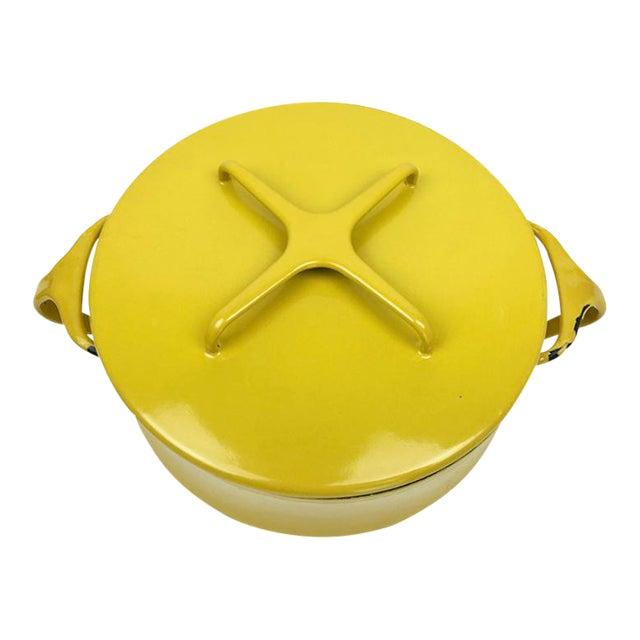 Vintage Modern Kobenstyle Dansk Yellow Enamel Pot - Image 1 of 5