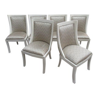 Modern Lacquered Side Chairs - Set of 6