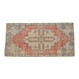 "Image of Hand Knotted Door Mat, Entryway Rug, Bath Mat, Kitchen Decor, Small Rug, Turkish Rug - 1'7"" X 3'2"" For Sale"