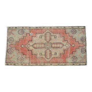 "Hand Knotted Door Mat, Entryway Rug, Bath Mat, Kitchen Decor, Small Rug, Turkish Rug - 1'7"" X 3'2"" For Sale"