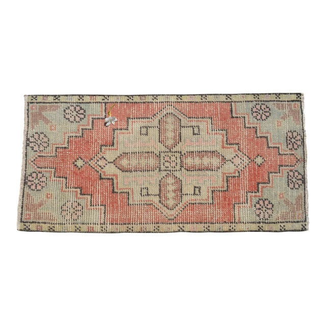 """Hand Knotted Door Mat, Entryway Rug, Bath Mat, Kitchen Decor, Small Rug, Turkish Rug - 1'7"""" X 3'2"""" For Sale"""