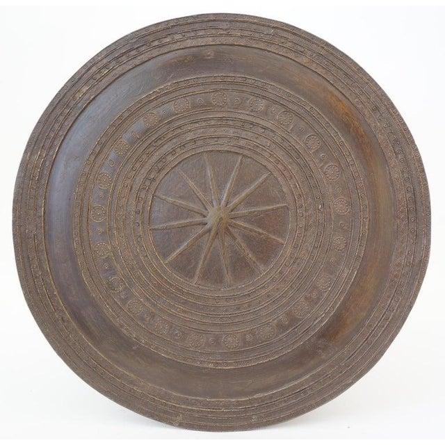 Brown Vintage Burmese Rain Drum in Bronze - Side Table or Drinks Table For Sale - Image 8 of 11