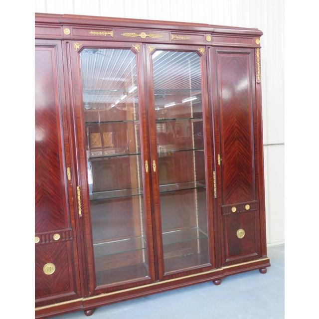 Regency Style Brass Mounted Breakfront For Sale - Image 4 of 11
