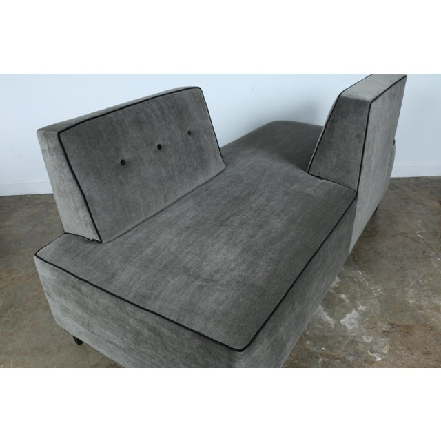 Modern Mohair Double Sided Sofa For Sale - Image 9 of 11
